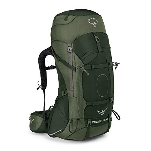 Osprey Aether AG 70 Men's Backpacking Pack -  Adirondack Green (MD)