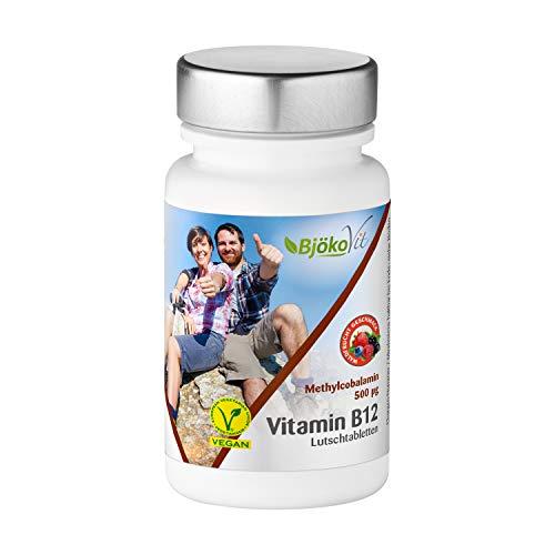 BjökoVit Vitamin B12 Lutschtabletten - Methylcobalamin - 500mcg - 60 Stück -