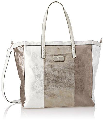 XTI Damen 85957 Shopper, 47x32x14 centimeters Silber (Plata)