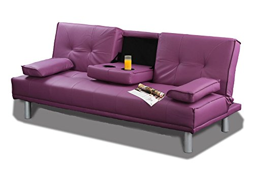 new-sleep-design-manhattan-modern-faux-leather-fold-down-3-seater-sofa-bed-with-drinks-table-cushion