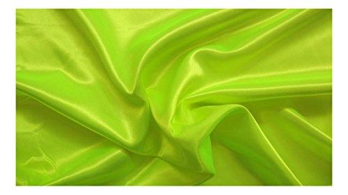 Fabrics-City Giallo Neon Verde Slim Raso tessuti raso tessuto lucido al metro, (Tessuto Raso Verde)