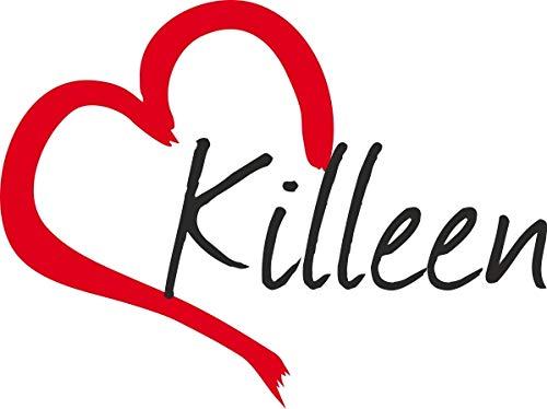 Auto Aufkleber Stadt Killeen USA Herz Sticker ca.9x12 cm konturgeschnitten