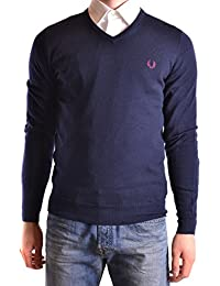 Fred Perry Homme MCBI128195O Bleu Laine Maille