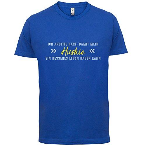 Ich arbeite hart, damit mein Huskie ein besseres Leben haben kann - Herren T-Shirt - 12 Farben Royalblau