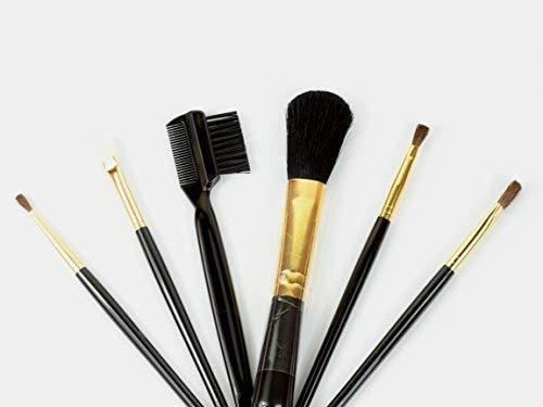 6 pièces professionnel Fard à paupières sourcil Mélange Ensemble de brosses yeux pinceaux de maquillage