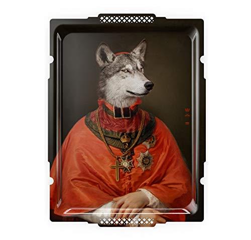 Ibride Le Loup - Portrait-Galerie - Kunstkönigin auf Wandplatte, Surrealistisch Galerie Tray