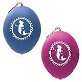 John & Judy 24 Meerjungfrau Punch Ballons Partybedarf Meerjungfrau Party Favors Meerjungfrau Dekorationen