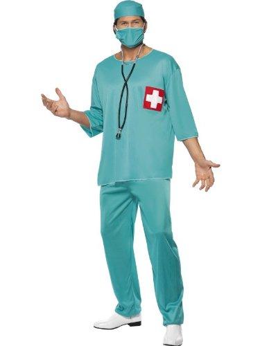 Kostüme Erwachsene Arzt (Arztkostüm Kostüm Arzt Krankenpfleger OP Kittel Gr. 48/50 (M), 52/54 (L),)