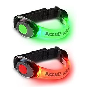 AccuBuddy LED Armband – Hell Leuchtendes Jogging Licht und Sicherheitslicht für alle Outdoor Sportarten
