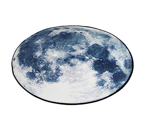 MMZX Teppich, Abstrakte Mond der Erde Trend hängenden Korb Rattan - Matte Wohnzimmer mit Sofa -...