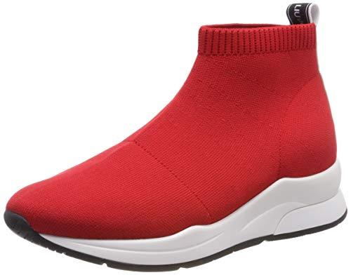 Liu Jo Shoes Karlie 16-Elastick Sock Rouge, Scarpe da Ginnastica Basse Donna, Rosso 91764, 37 EU