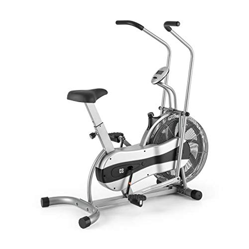 Capital Sports Stormstrike 2k - Crosstrainer, Heimtrainer, Fahrradergometer, bis 120 kg, inkl. Trainingscomputer, Anzeige: Gefahrene Strecke, Gesamtstrecke, Trainingszeit, schwarz