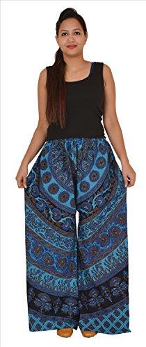 Skirts & Scarves SNS Palazzo Women's Block Print Cotton Wide Leg Pant