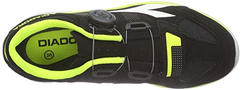 Diadora Gym, Chaussures de cyclisme spéciales VTT mixte adulte Noir - Schwarz (Black/yellow fluo/white6003)