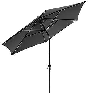 ANCHEER Garden Parasol 2.75m Sun Shade Rotating Tilting Umbrella with Crank Mechanism for Patio Beach Yard