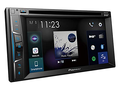 Pioneer-AVH-A3200DAB-2-DIN-DAB-Multimedia-Receiver-inkl-Antenne-Bluetooth-passend-fr-Pontiac-Grand-AM-2000-2004-schwarz