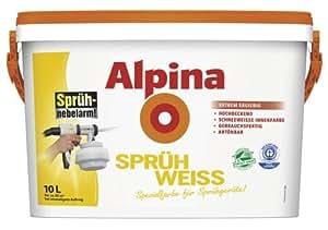 alpina spr h weiss 10 l wei spezialfarbe f r spr hger te innenfarbe baumarkt. Black Bedroom Furniture Sets. Home Design Ideas