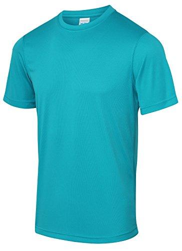 Just Cool Performance T-Shirt, atmungsaktiv, Türkis, Gr.M