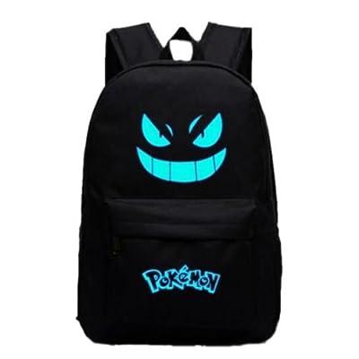 Pokemon Go negro luminoso mochila hombros bolsa portátil bolsa mochila nuevo de Thailand