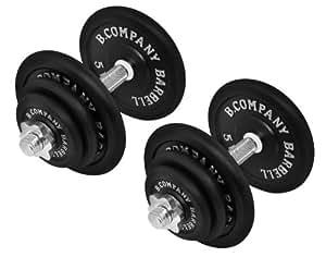 Bad Company | 2er Set Kurzhanteln Gusseisen 40kg (2 x 20 kg) | Professionelles Equipment für Krafttraining und Kraftausdauer