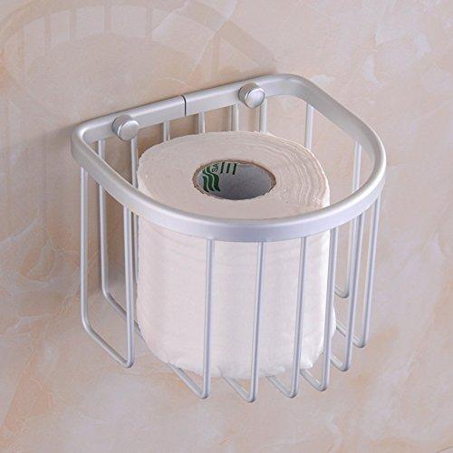 NBE Toilettenpapier Warenkorb/Raum Aluminium erhöhte Papierkorb/Fach/Papier Handtuch Halter/WC Papier Karton - EIN -