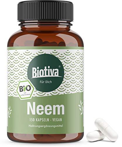 capsule di neem bio - azadirachta indica - 150g capsule - 100% vegan - neem - neem - integratori ayurvedici - qualità biologica - in bottiglia e controllate in germania (de-eco-005)