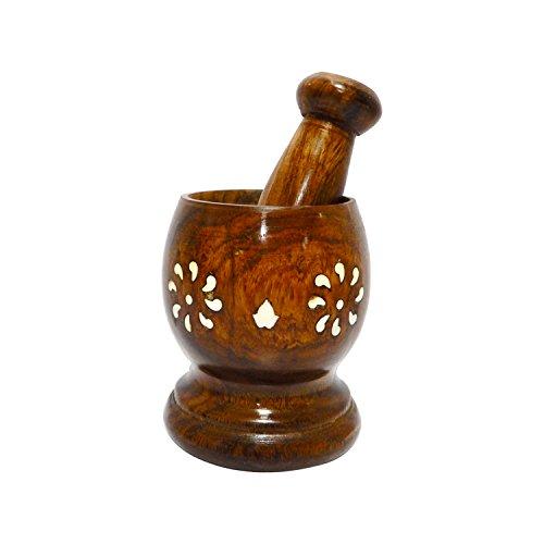 Mortier de Khalbatta en bois et pilon / Okhali Masher / épice Grinder 3,5 pouces, jour de Pâques / fête des mères / cadeau du Vendredi saint