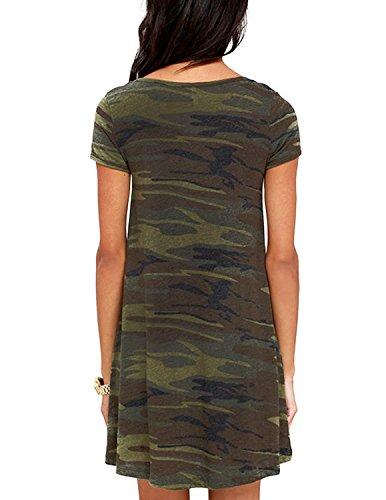 HaoDuoYi -  Vestito  - opaco - Donna Multicoloured