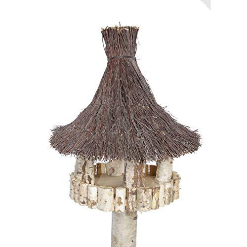 Vogelhaus inkl. Ständer – Birke Natur - 2