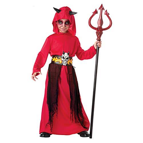 Yqihy Halloween Kostüme Red Devil für Jungen Wizard Dress Cape Rollenspiel Kleidung + Kopfbedeckung + Gürtel (ohne - Red Devil Dress Kostüm