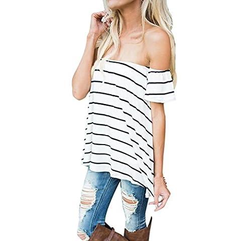 Women Blouse T-shirts, Bestow Women Slash Neck Stripe Vest T-Shirt