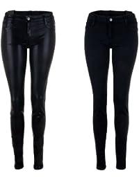 BleuLab Reversible Jeans Wendejeans in schwarz / black foil