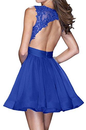 Missdressy - Robe - Trapèze - Femme Bleu royal