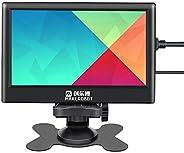 شاشة لمس سعوية عالية الدقة IPS مقاس 7 بوصة من Goolsky Raspberry Pi 1024 * 600 دقة مع واجهة USB عالية الدقة وه