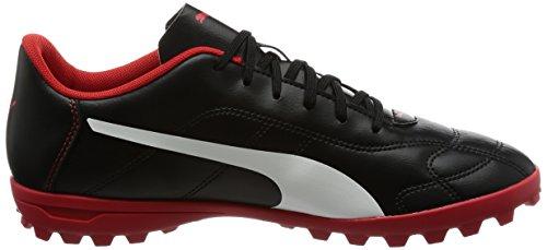 Puma Herren Classico C TT Fußballschuhe Schwarz (Puma Black-White-High Risk Red)
