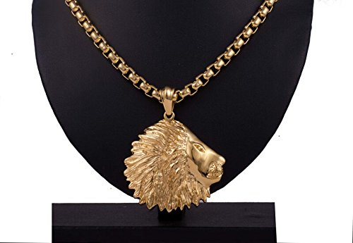 24CT GOLD ANVI JEWELLERS Gold Plated Lions Claw Pendant with FREE chain