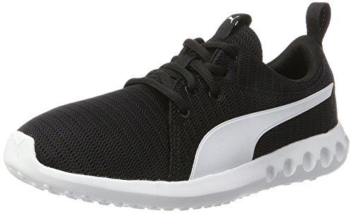 Puma Unisex-Kinder Carson 2 Jr Sneaker,Schwarz (Puma Black-Puma White), 39 EU - Jungen Puma Schuhe