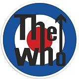 Pegatinas para el parachoques The Who y Moto logotipo de 10cm