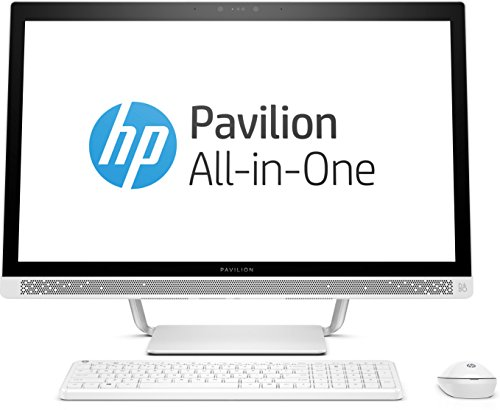 HP Pavilion (27-a262ng) 68,6 cm (27 Zoll / Full HD-IPS) All-in-One Desktop PC (Intel Core i5-7400T, 8 GB RAM, 1 TB HDD, NVIDIA GeForce 930MX, Windows 10 Home 64) weiß