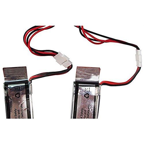 Togather® UDI U818A-WIFI U845 U845-WIFI RC Quadcopter Ersatzteile 3Pcs 3,7V 350mAh Akku + 3 in 1 Ladegerät + 3PCS Ladekabel Ersatz für Drone - 4
