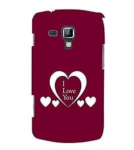 PrintVisa Love Heart Design 3D Hard Polycarbonate Designer Back Case Cover for Samsung Galaxy S Duos S7562
