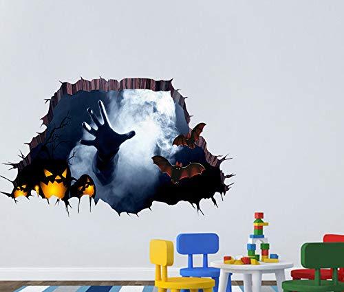 Happy Halloween Haushaltszimmer Boden Wandaufkleber Dekor Aufkleber Abnehmbare Kunst Kreative Wandaufkleber 3D