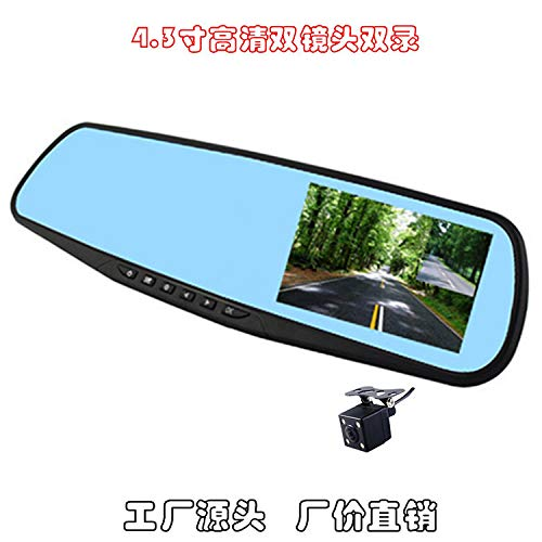 PoeHXtyy HD Screen Mirror Monitor, 4,3-Zoll-Rückfahrkamera-Rückfahrkamera-Einparkassistent