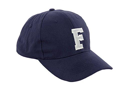 Unisex Jungen Mädchen Mütze Baseball Cap Marineblau Hut Kinder Kappe Alphabet A-Z Morefaz TM (F)