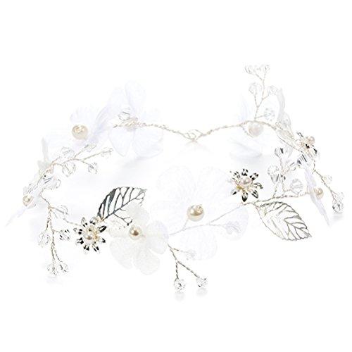 OULII mariage de la fleur Hairband perle Hair Band Headwear Headwear accessoires de la mariage
