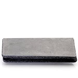 germanmade. g.5 Apple iPhone 5 / 5s / 5c Hülle / Portemonnaie aus Leder stone / grau