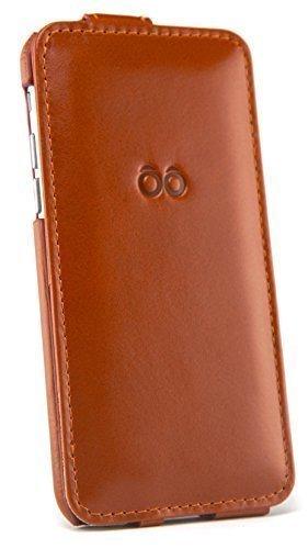"""trooble iPhone 6 / 6s Leder-Hülle -Tasche -Case -Cover für Apple iPhone 6 4.7"""" Zoll und iPhone 6s - Echt-leder - Flipcase - mit Visitenkartenfach auf-klappbar als Zubehör braun"""