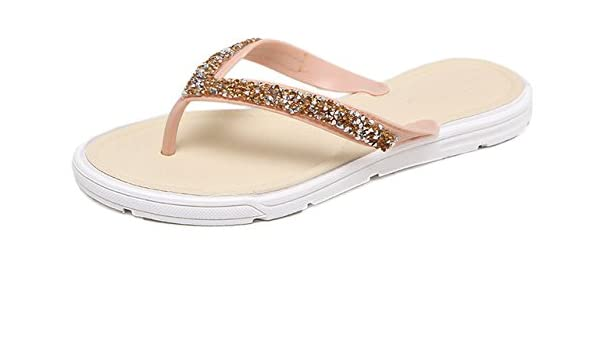 bbdb1c37eac7f ShopyStore 5 5 Anikasari New Sandals Women Crystal Flip Flops Fashion Beach  Sandals Bling  Amazon.in  Shoes   Handbags