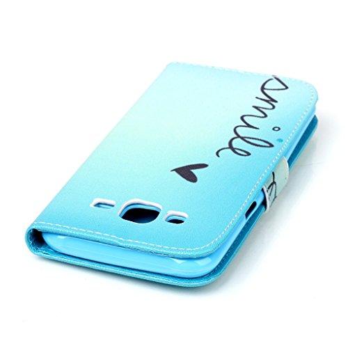 Trumpshop Smartphone Case Coque Housse Etui de Protection pour Samsung Galaxy S6 + This iPhone is Locked + Smartphonecoque Portefeuille PU Cuir Anti-Choc Sourire
