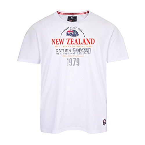 XXL Redfield T-Shirt weiß mit Schriftprint Weiß